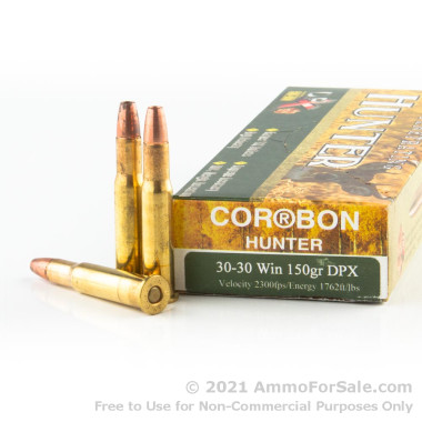 20 Rounds of 150gr DPX 30-30 Win Ammo by Corbon
