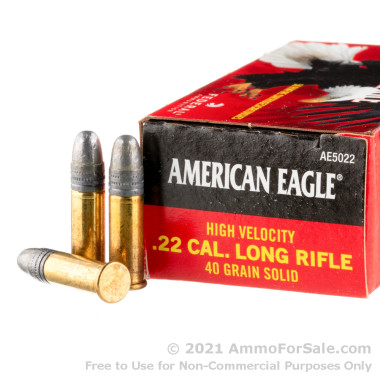 50 Rounds of 40gr LRN .22 LR Ammo by Federal