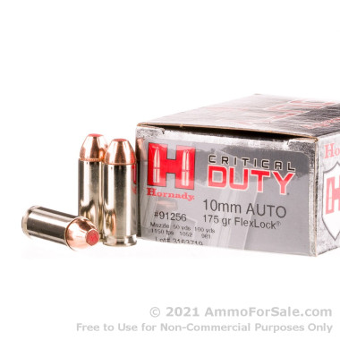 20 Rounds of 175 Grain FTX 10mm Ammo by Hornady Critical Duty