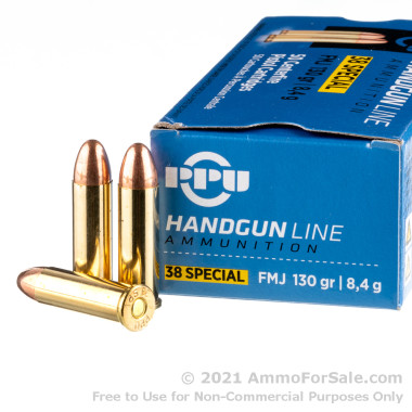 500  Rounds of 130gr FMJ .38 Spl Ammo by Prvi Partizan