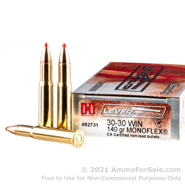 20 Rounds of 140gr MonoFlex 30-30 Win Ammo by Hornady