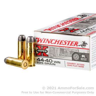50 Rounds of 225gr LFN .44-40 Winchester Ammo by Winchester