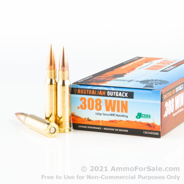 200 Rounds of 168gr HPBT .308 Win Ammo by Australian Defense Industries