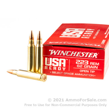 20 Rounds of 62gr Open Tip .223 Ammo by Winchester