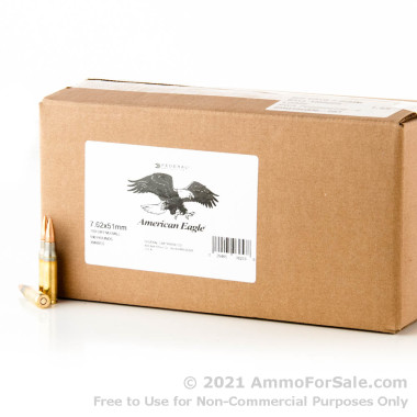 1000 Rounds of 149gr FMJ 7.62x51mm Ammo by Federal