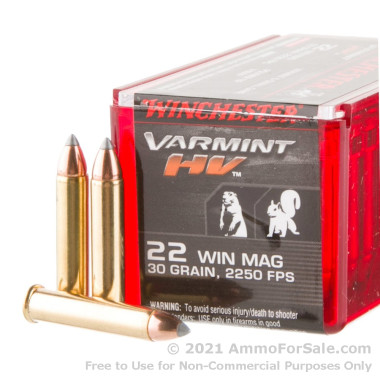 50 Rounds of 30gr V-MAX .22 WMR Ammo by Winchester Varmint