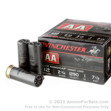 25 Rounds of 1 ounce #7 1/2 shot 12ga Ammo by Winchester AA Lite Handicap