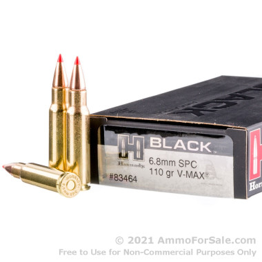 20 Rounds of 110gr V-MAX 6.8 SPC Ammo by Hornady