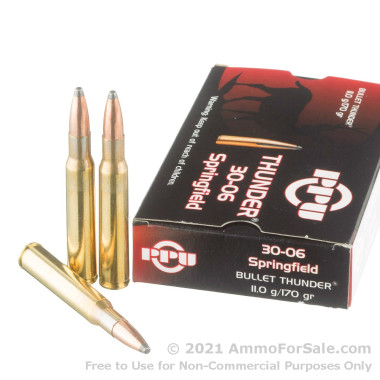 20 Rounds of 170gr SP 30-06 Springfield Ammo by Prvi Partizan