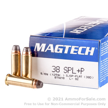 50 Rounds of 125gr SJSP .38 Spl Ammo by Magtech