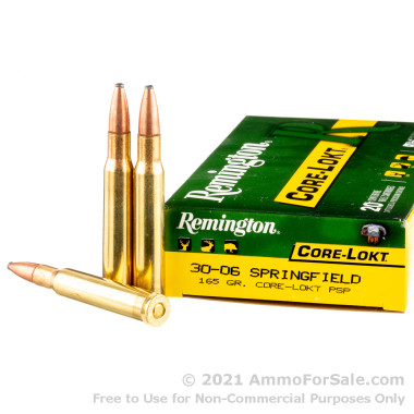 20 Rounds of 165gr PSP 30-06 Springfield Ammo by Remington