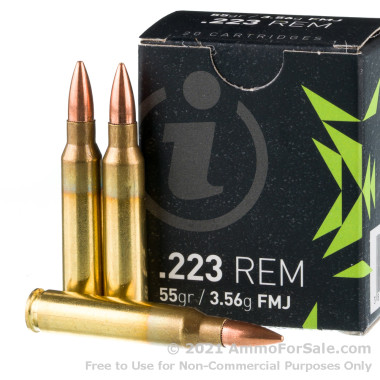 1000 Rounds of 55gr FMJ .223 Ammo by Igman