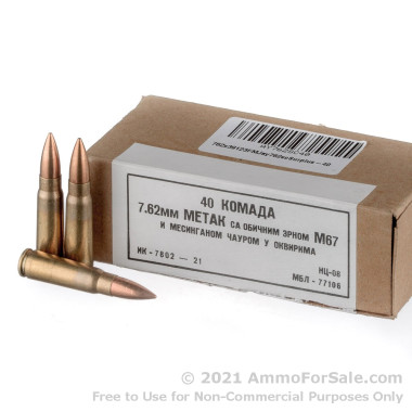 1120 Rounds of 123gr FMJ 7.62x39mm Ammo Yugoslavian Military Surplus