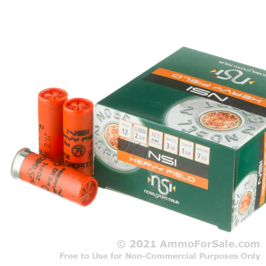 25 Rounds of 1 1/4 ounce #7 1/2 shot 12ga Ammo by NobelSport