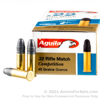50 Rounds of 40gr LRN .22 LR Ammo by Aguila