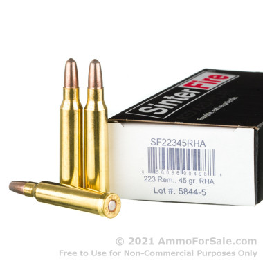 20 Rounds of 45gr Frangible .223 Ammo by SinterFire