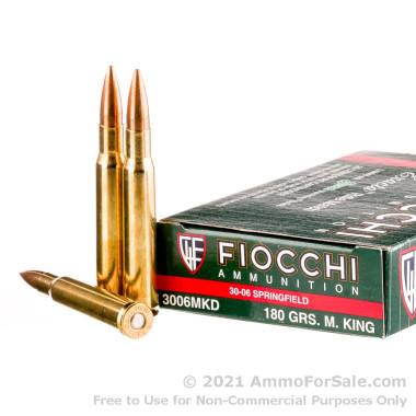 200 Rounds of 180 Grain Sierra MatchKing HPBT 30-06 Springfield Ammo by Fiocchi