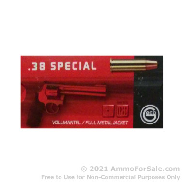 1000 Rounds of 158gr FMJ .38 Spl Ammo by GECO