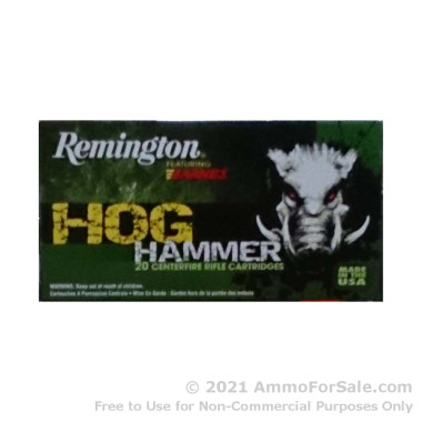 20 Rounds of 168gr TSX .308 Win Ammo by Remington Hog Hammer