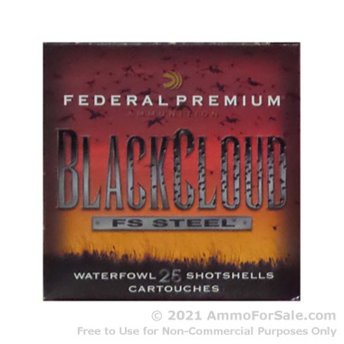 25 Rounds of 1 1/4 ounce BBB Shot 12ga Ammo by Federal Blackcloud