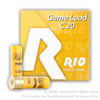 25 Rounds of 1 ounce #9 shot 20ga Ammo by Rio Ammunition