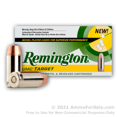 250 Rounds of 165gr MC .40 S&W Nickel Ammo by Remington