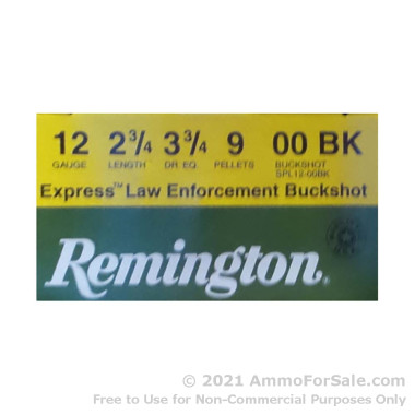 """25 Rounds of 2-3/4"""" #00 Buck 12ga Ammo by Remington Express LE"""