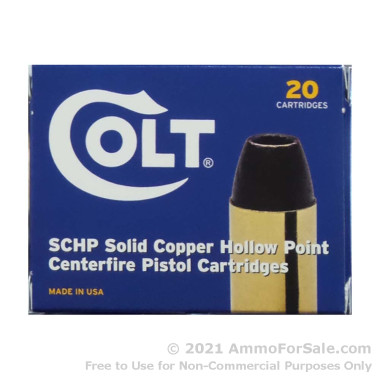 20 Rounds of 185gr SCHP .45 ACP Ammo by Colt