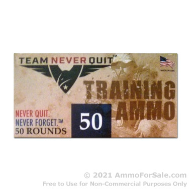 50 Rounds of 100gr Frangible 9mm Ammo by Team Never Quit