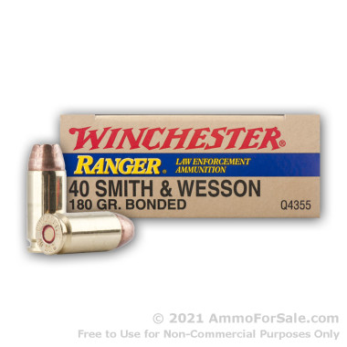 500  Rounds of 180gr JHP .40 S&W Ammo by Winchester