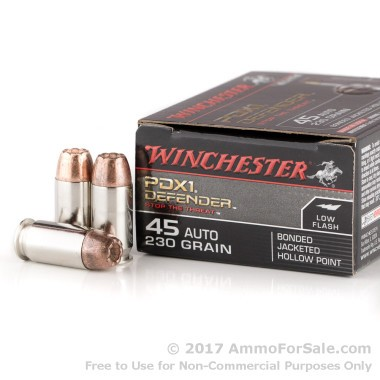 200 Rounds of 230gr JHP .45 ACP Ammo by Winchester