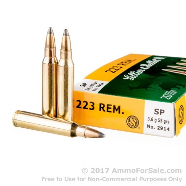 20 Rounds of 55gr SP .223 Ammo by Sellier & Bellot