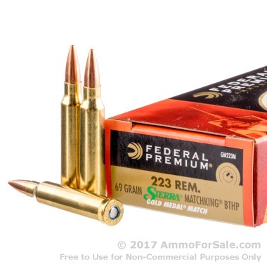 20 Rounds of 69gr HPBT .223 Ammo by Federal