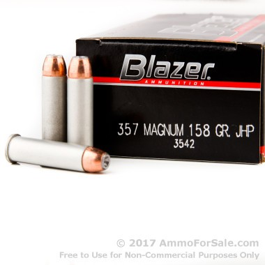 50 Rounds of 158gr JHP .357 Mag Ammo by CCI