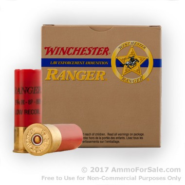 250 Rounds of  00 Buck 12ga Ammo by Winchester Ranger