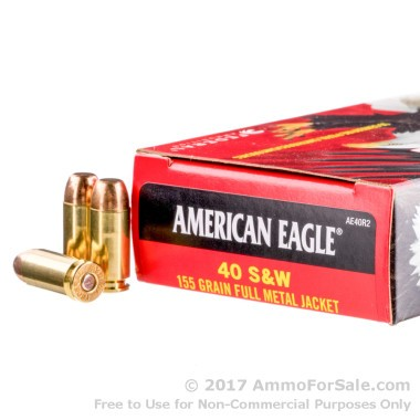 50 Rounds of 155gr FMJ .40 S&W Ammo by Federal