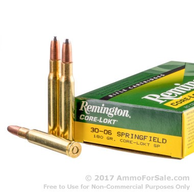 20 Rounds of 180gr SP 30-06 Springfield Ammo by Remington