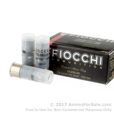 250 Rounds of  Rifled Slug 12ga Ammo by Fiocchi