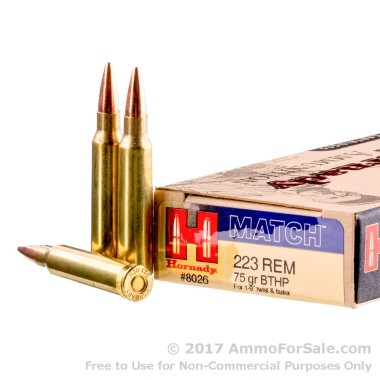 200 Rounds of 75gr HPBT .223 Ammo by Hornady