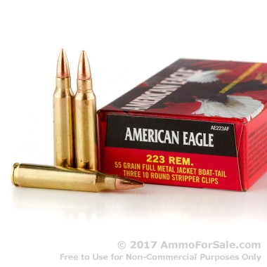 900 Rounds of 55gr FMJBT .223 Ammo by Federal