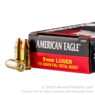 1000 Rounds of 115gr FMJ 9mm Ammo by Federal