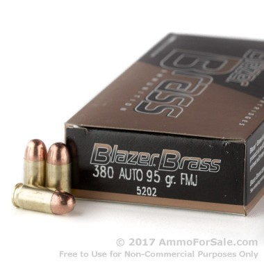 1000 Rounds of 95gr FMJ .380 ACP Ammo by Blazer