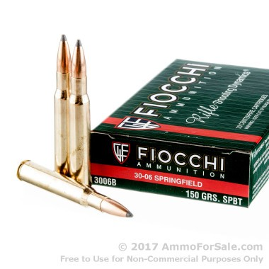 20 Rounds of 150gr SPBT 30-06 Springfield Ammo by Fiocchi