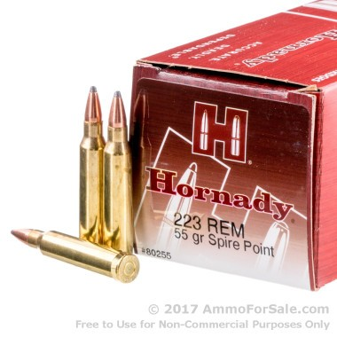 500  Rounds of 55gr SP .223 Ammo by Hornady