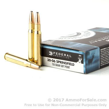 200 Rounds of 150gr SP 30-06 Springfield Ammo by Federal