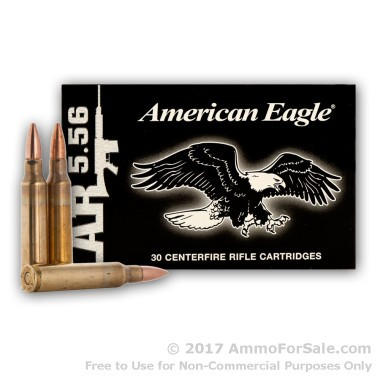30 Rounds of 55gr FMJBT 5.56x45 Ammo on Stripper Clips by Federal