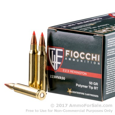 50 Rounds of 50gr V-MAX .223 Ammo by Fiocchi