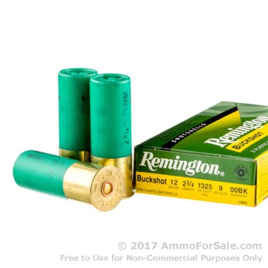 250 Rounds of  00 Buck 12ga Ammo by Remington