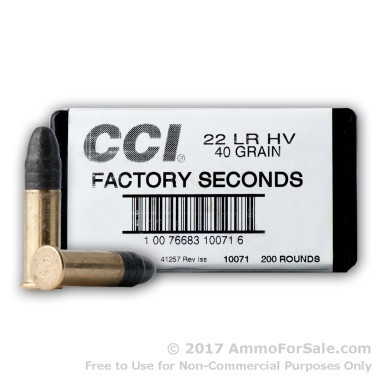 200 Rounds of 40gr LS .22 LR Ammo by CCI