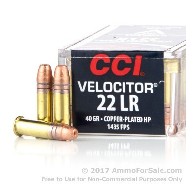 50 Rounds of 40gr CPHP .22 LR Ammo by CCI